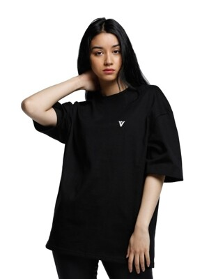 V MARK T-SHIRT BLACK