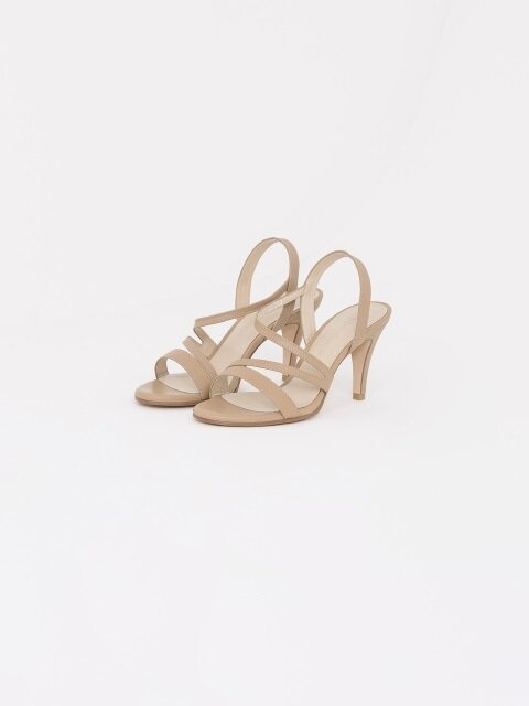 70mm Basic Strap Sandal (Beige)