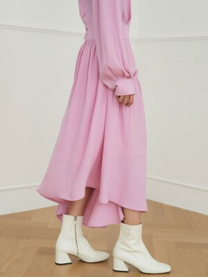 layer flare dress_fancy pink