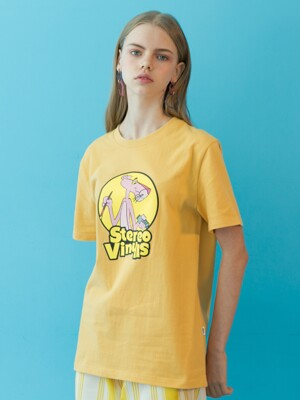 [SS19 Pink Panther] PP Vintage T-Shirts(Yellow)