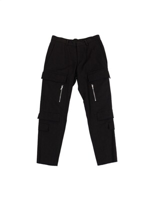 New Cargo Denim Trousers Black