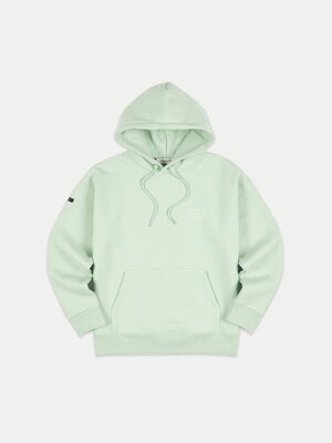 UNISEX FULL NAME LOGO EMBROIDERY HOODIE atb381u(PALE JADE)