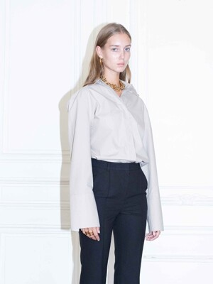 LOUVRE oversized shirt_Light gray
