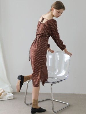 4.14 BARLEY DRESS_BROWN