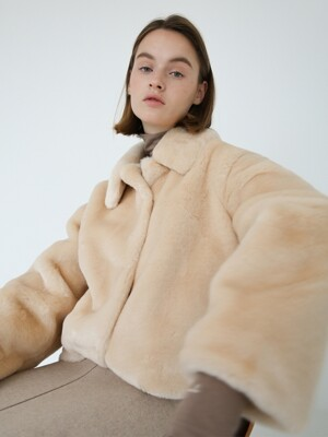 SOFT FUR JACKET - IVORY