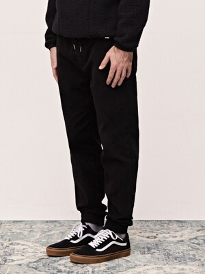 19 WINTER HIGH BANDING JOGGER PANTS - BLACK