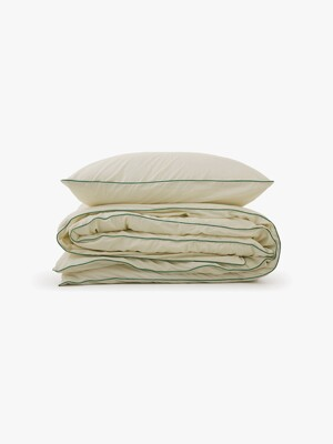 cicci duvet cover - ivory/green