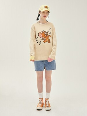 [SS20 Stereo & Jerry] Jacquard Knit(Beige)