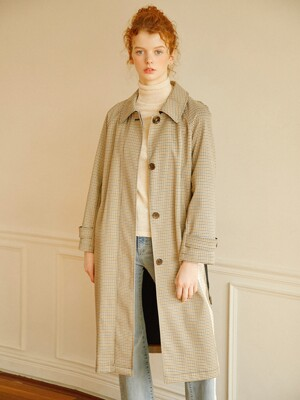 Modern Check Trench_Brown