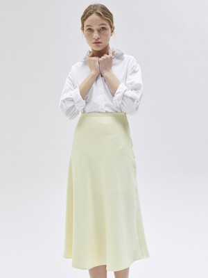 Satin Flared skirt_LE