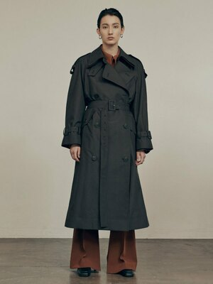 20FW CLASSIC TRENCH COAT - DARK BROWN
