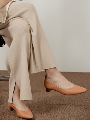 LAMBSKIN LEATHER PUMPS_NATURAL