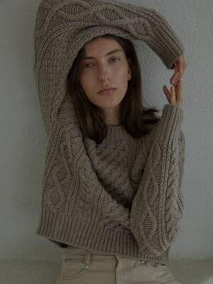 CABLE WOOL SWEATER (WOOD)