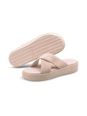 [375105 04] Platform Slide Suede_Cloud Pink