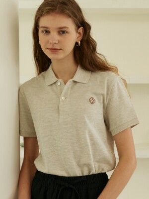 clover polo shirts (oatmeal)