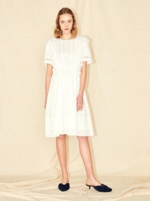 COTTON LACE DRESS_WHITE