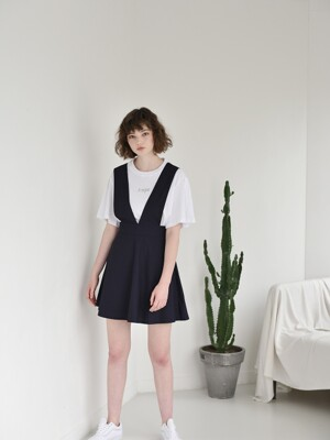Cotton Dress Skirt [NAVY]