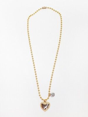 Ball heart necklace (Gold)