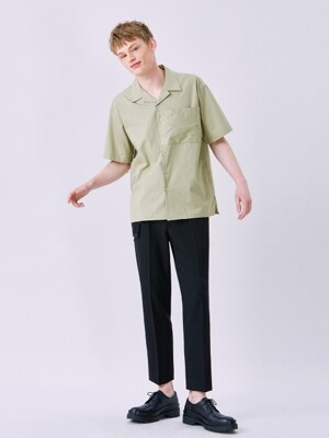 V426 SQUARE POCKET SHIRT_LIGHT KHAKI