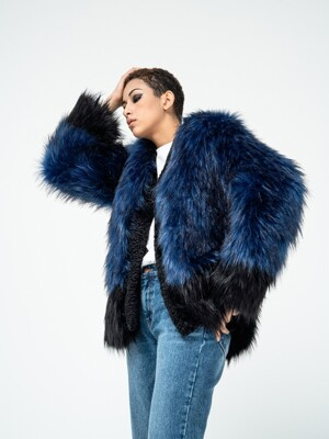 RAVEN ECO FUR BLUE