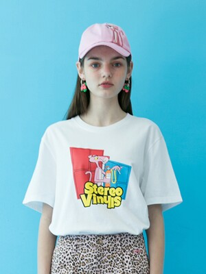 [SS19 Pink Panther] PP Vintage T-Shirts(White)