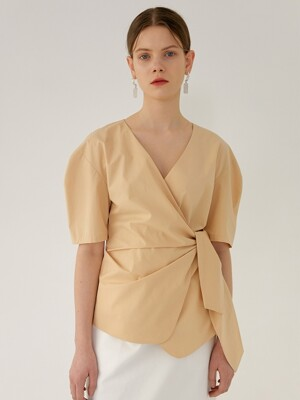 CHLOE Volume Sleeve Blouse(CUSTARD)