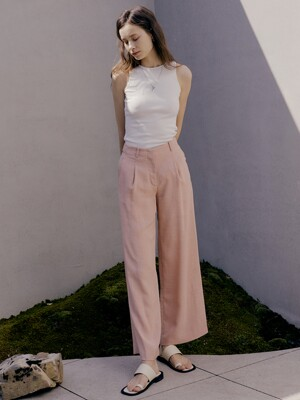[Drama Easy] Summer Wide-leg Trousers (4Colors)