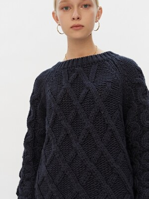 Cable Knit Charcoal