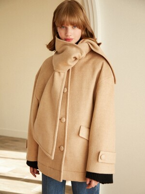 Muffler Soft Coat_Beige