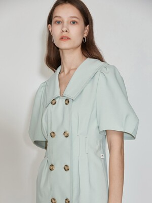 Double Button Belted Dress [Mint] JSDR0B908L1