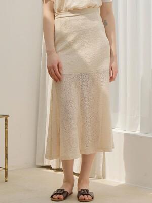 LACE SKIRT_BEIGE