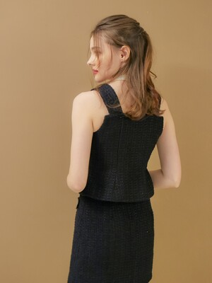 JANE TWEED VEST
