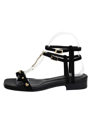 CHAIN SANDAL - BLACK