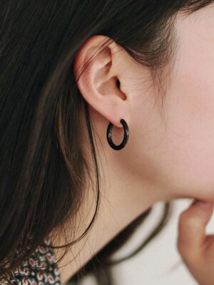 black ring earrings (3size)