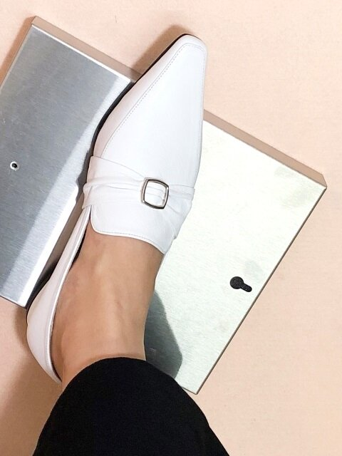 SHIRRING BUCKLE LOAFER 2 M-IG-180901 WHITE