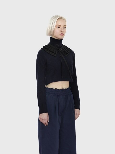 18AW DOUBLE PLEATS COLLAR (BLACK)