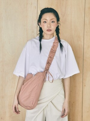 Shirring shoulder hobo bag_pink