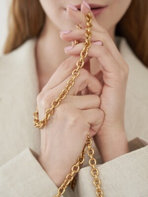 Sweet ring chains gold satin