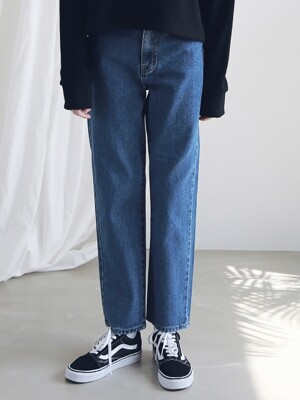 WASHING STRAIGHT DENIM PANTS ALP191001-BL
