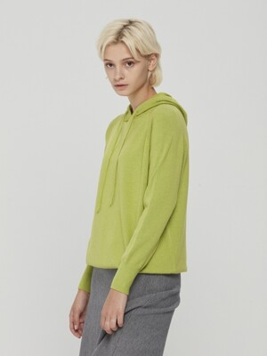 Hooded Knit Lime