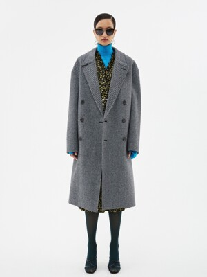 UNISEX CASHMERE NEW JONAS OVERSIZED COAT awa282u(HARRINGBONE)