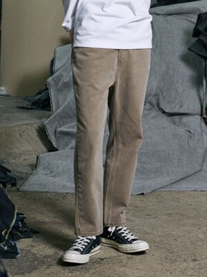 PIGMENT STRAIGHT PANTS (BROWN)