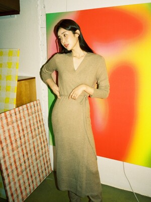 [단독][FW19]Maxi Wrap Dress