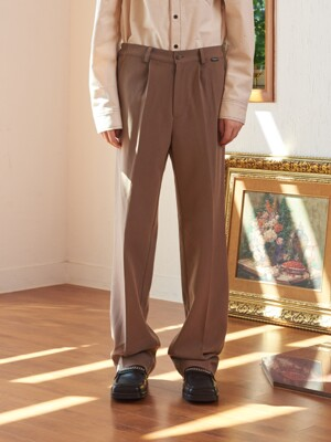 SIDE BANDING SET WIDE PANTS (BROWN)