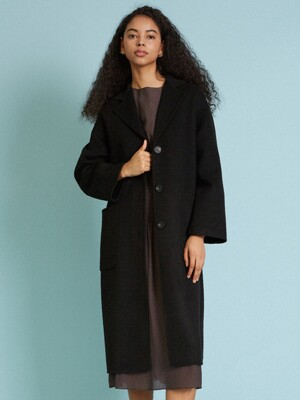 LINDA HANDMADE COAT, BLACK
