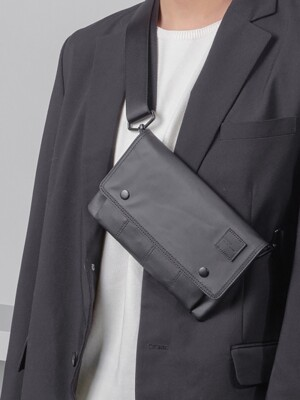 DAY-OUT BLACK (Wallet x pouch x clutch x cross)