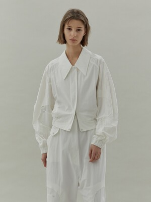 20SS STITCH BANDING JACKET - WHITE