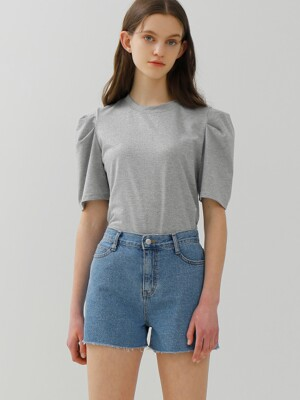 DENIM BANDING SHORTS