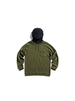 Layered Hoodie (Midnight Khaki)