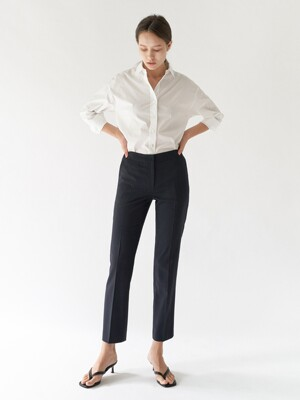 Pencil straight trousers - Dark navy